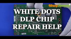 replacing a dlp tv chip white dots issue how to fix mitsubishi