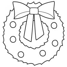 Christmas Wreath Coloring Pages For Page