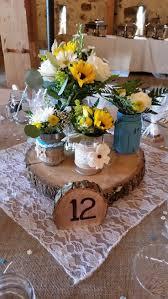Blossom Bliss Florist Wedding Centerpiece Sunflowers Country Style