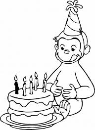 Curious George And Birthday Cake Clipart