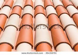 style clay roof tiles stock photo 394316701