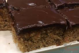 schneller nuss apfelkuchen mit schokoglasur