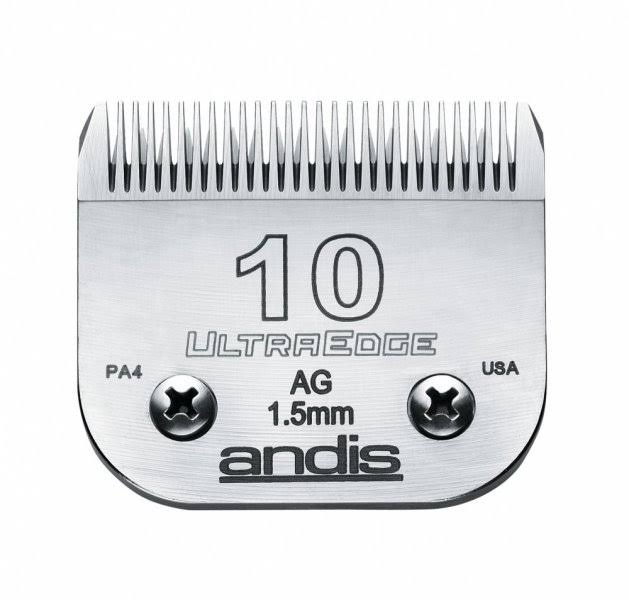 "Andis Carbon-Infused Steel UltraEdge Dog Clipper Blade - Size 10, 1/16"" Cut Length"