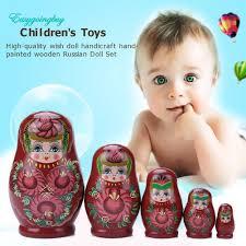 100 Matryoshka Kitchen Cute 5 Layer Novelty Russian Nesting Doll Wooden Set Hand Painted