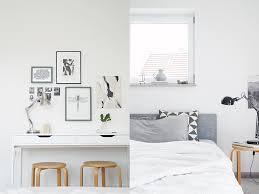 interior weiß grau holz schlafzimmer herbstlich