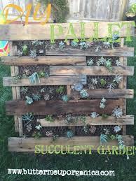 DIY Pallet Succulent Garden
