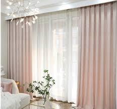 erröten rosa vorhänge semi verdunkelung vorhänge custom wohnzimmer fenster vorzieht luxus vorhang panel