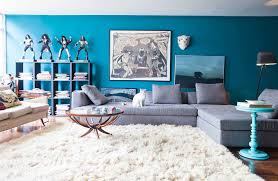 smooth white fur area rug for contemporary living room seating