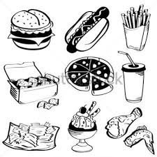 fast food clip art black and white