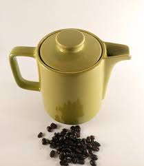 Vintage Melitta Mint Lime Green Ceramic Coffee Pot