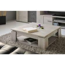 loft table basse carrée style contemporain décor bois gris l 86