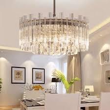 moderne runde led licht kronleuchter luxus klar kristall