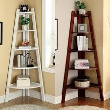 lyss 5 tier corner ladder bookcase shelf corner ladder shelf