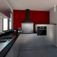 cuisine cerise cuisine mur et gris cuisine mur meuble blanc gris