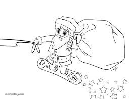 Illustration Coloriage Noire Et Blanche Arbre De Noël Père Noël