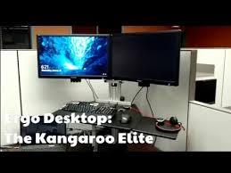 Kangaroo Standing Desk Dual Monitor by Ergodesktop Youtube