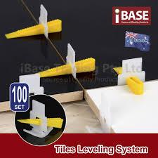 Floor Tile Leveling Spacers by 100 Tile Leveling System Clips Wedges Floor Tiling Tool Kit