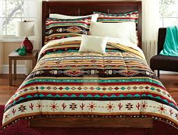 Turquoise and tan Southwestern Native American Style forter Set