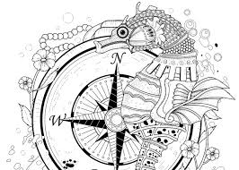Final Seahorse Coloring Page Pic