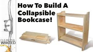 how to build a collapsible bookcase campaign furniture build