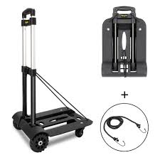 100 Hand Truck Vs Dolly New Folding Cart Push Luggage Collapsible Trolley W