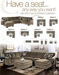 Jennifer Convertibles Sofa With Chaise by Signature Design By Ashley Cosmo Marble Sectional Sofa With