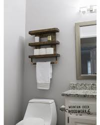 Winter Shopping Special Wooden Bathroom Shelf Rustic Throughout Shelves Remodel 7