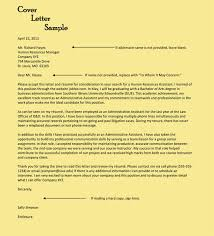 Administrative Assistant Cover Letter Examples 10 Formats