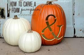 Fake Carvable Pumpkins by How To Carve A Foam Pumpkin Simplykierste Com