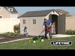 lifetime 8x12 5 plastic storage shed 6402 youtube