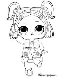 Doll Coloring Page Share With Friends Surprise Series 3 Lol Pages Dawn V R Q T Dolls