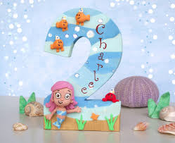 Bubble Guppies Cake Toppers by Bubble Guppies Molly Birthday Cake Topper Wood Number U2026 Flickr