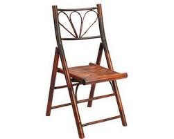 chaise en bois de bambou vernie pour interieur ou exterieur