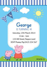 Peppa Pig George Pumpkin Stencil by This Listing Is For A Peppa Pig Birthday Invitation Size 5 X 7