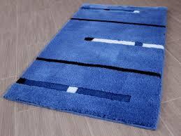 pacific badteppich kabara blau streifen in 5 größen ebay
