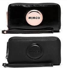 the classic mimco mim zip tech purse women clutch wallet pouch