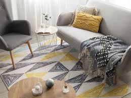 teppich kalen grau gelb mintgrün 160x230 cm ch