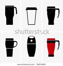 Coffee Travel Mug Stock Vector Royalty Free 388118860
