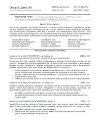 Sample Resume For Newly Registered Nurses Nurse Without Experience Cozy