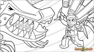 LEGO Ninjago Coloring Page Zane And His Ice Dragon Printable Color Sheet