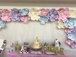 Image Is Loading 20 Piece Large Paper Flowers Backdrop Birthday Wall