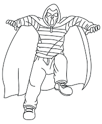 Wicked Costume Halloween Coloring Pages