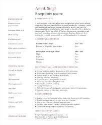 Dental Front Desk Receptionist Resume by Sample Resume Receptionist Sample Receptionist Resume Job