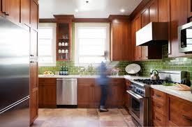 kitchen backsplashes small subway tile kitchen backsplash green