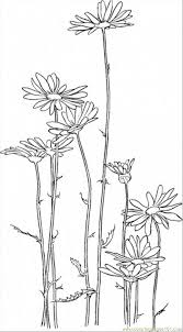 Daisy 5 Coloring Page