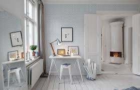 tapisserie bureau papier peint kube contemporary home office by au fil
