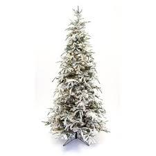 75 Slim Flocked Christmas Tree by Hallmark Flocked Tree Wayfair
