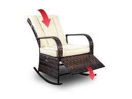 Amazon.com : Mupater Patio PE Rattan Wicker Rocking Chair Auto ... Shop Intertional Caravan Valencia Resin Wicker Rocking Chair On Factory Direct 3pc Outdoor Bistro Set Rakutencom Corvus Salerno With Cushions Vintage Used Chairs For Sale Chairish Chair Wikipedia Tracing The Trends Of Fniture Through History Yesteryear Wayfair 51 And Rattan To Add Warmth Comfort Any Space Best Way For Your Relaxing Using Old Remarkable Antique Quartersawn Oak Mission Sewing Rocker Vulcanlirik Hampton Bay Beacon Park Toffee