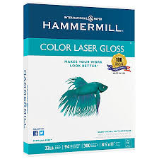 Print Hammermill Color Gloss Laser Paper 8