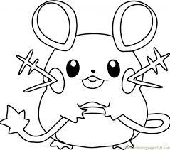 Pokemon Coloring Page Dedenne Free Pokmon